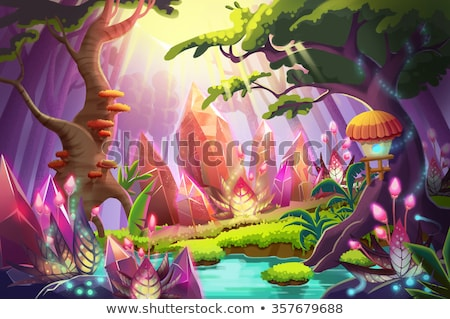 Stock photo: Fairy tale island scene