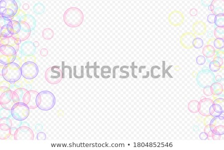 color flow poster with balls banner transparent background stock photo © adamson