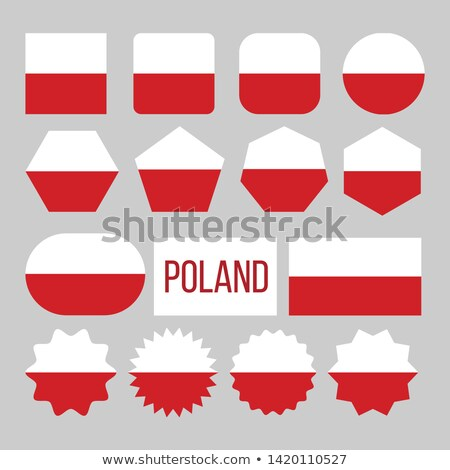 Poland Flag Collection Figure Icons Set Vector Stock photo © pikepicture