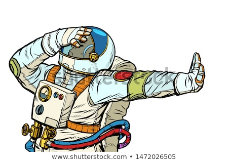 Astronaut in a spacesuit. Gesture of denial, shame, no Stock photo © studiostoks