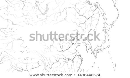 world map of far east region japan korea china siberia yakutia mongolia dzungaria chart stock photo © glasaigh