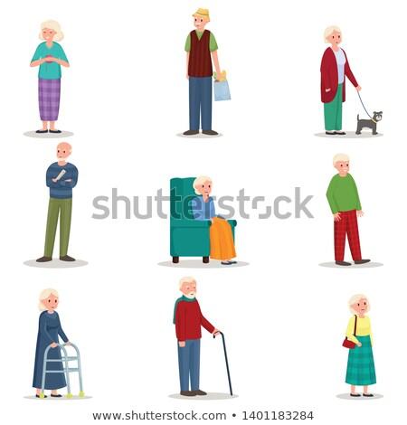 Ouderdom iconen eps 10 familie internet Stockfoto © netkov1