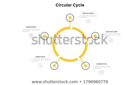 пять шаги цикл шаблон один Сток-фото © orson