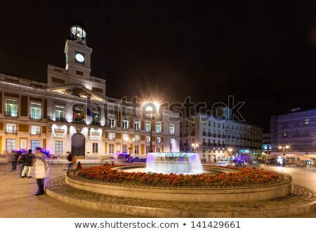 мнение Мадрид ночь Испания исторический зданий Сток-фото © diego_cervo