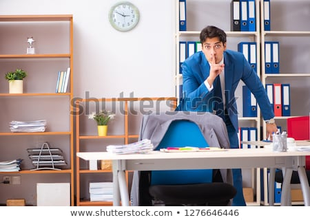 employee stealing important information in industrial espionage stock photo © elnur