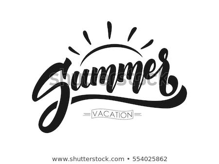 vintage summer season emblems stock photo © netkov1
