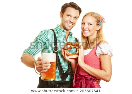 Woman and man on the Oktoberfest in love Stock photo © Kzenon