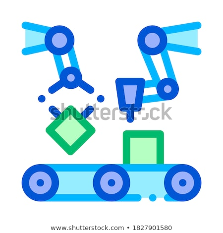 Gathering Conveyer Artificial Vector Sign Icon Stock photo © pikepicture