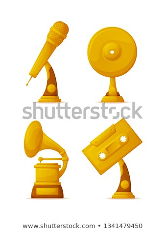 Music Awards or Gold Trophy Cups in Art Industry Stock photo © robuart