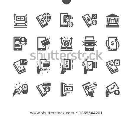 Internet vektor online férfiak nő headset Stock fotó © robuart