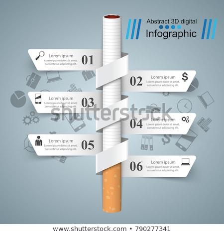 Harmful cigarette, viper, smoke, business infographics. Stock photo © rwgusev