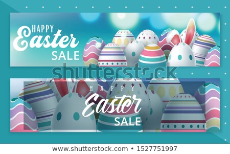 spring and happy easter vector web banners set stock photo © robuart
