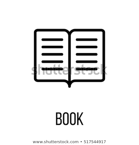 Book icon with bookmark. illustration for web site design and mobile apps. Vector illustration on a  Stock photo © kyryloff