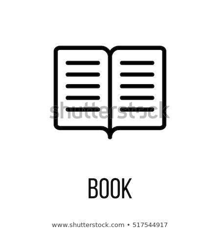 図書 · アイコン · ブックマーク · 実例 · ウェブサイト · デザイン - ストックフォト © kyryloff