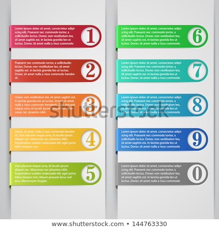 infographics with numbers and figures isolated stock photo © robuart