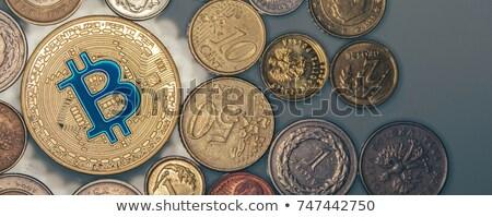 золото bitcoin монеты бизнеса финансовых виртуальный Сток-фото © JanPietruszka