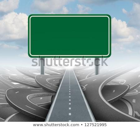 будущем дорожный знак высокий разрешение графических облаке Сток-фото © kbuntu