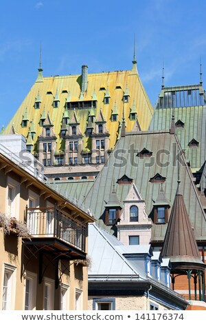 Stok fotoğraf: Quebec · şehir · Kanada · eski · bakır · çatılar
