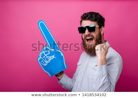 One hand fingers with upped big one Stock photo © vetdoctor