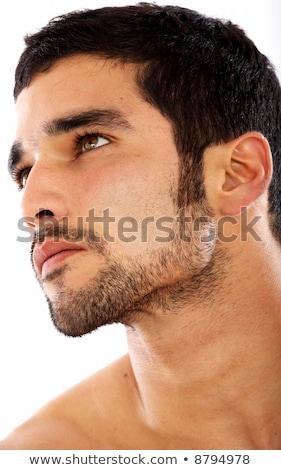 peinzend · mode · model · poseren · zijaanzicht - stockfoto © hasloo