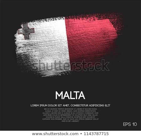 Zdjęcia stock: Grunge · banderą · Malta · starych · vintage · grunge · tekstury