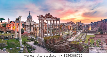 Paisagem ver romano fórum Roma Itália Foto stock © vladacanon