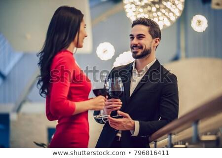 пару · неудачный · слепых · дата · ресторан · вино - Сток-фото © photography33