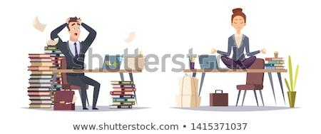 üzletember · óra · idő · stressz · menedzser · fehér - stock fotó © photography33