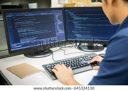 Computador programa caneta imprimir preto dados Foto stock © a2bb5s
