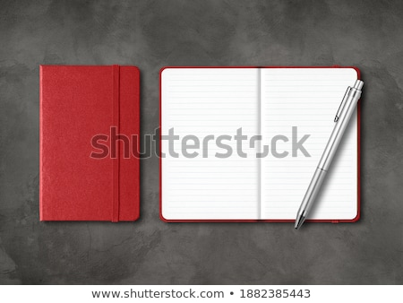 Leeg Open Dagboek En Rode Balpen Stockfoto © Daboost