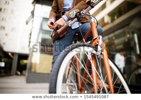 stad · fiets · pad · bouw · licht · achtergrond - stockfoto © Alenmax