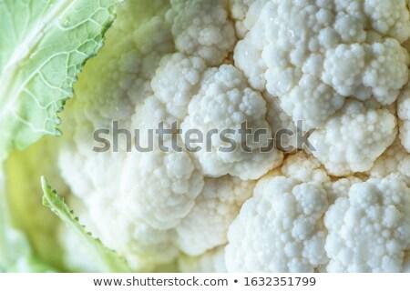 Friss karfiol textúra étel természet növény Stock fotó © ozaiachin