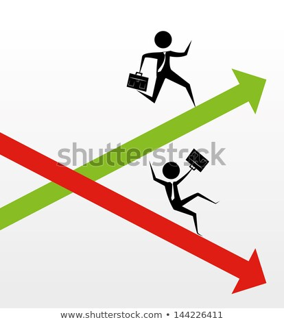 businessman moving down on an arrow graph Stock photo © 4designersart