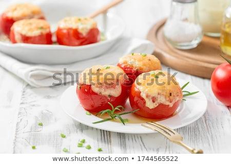 cherry tomato with cheese Stock photo © M-studio