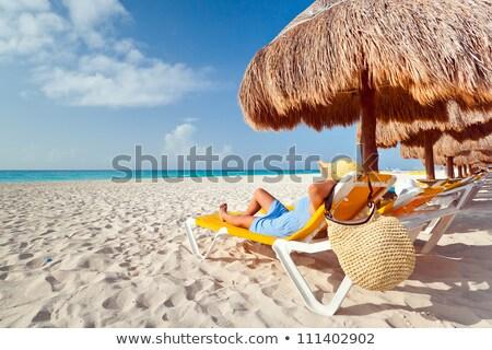 パラソル ビーチ サングラス アイコン ストックフォト © zzve