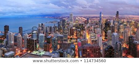 Kilátás Chicago sziluett panoráma légifelvétel felhőkarcolók Stock fotó © CaptureLight