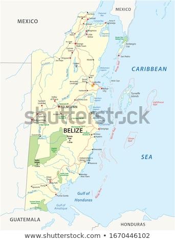 Belize mappa regioni colorato luminoso colori Foto d'archivio © Volina