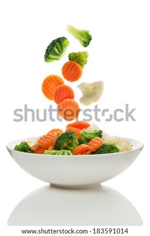 Brokoli havuç salata biberiye doku ışık Stok fotoğraf © doupix