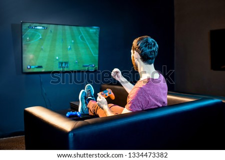 Bedieningshendel monitor spel zwarte Stockfoto © mayboro