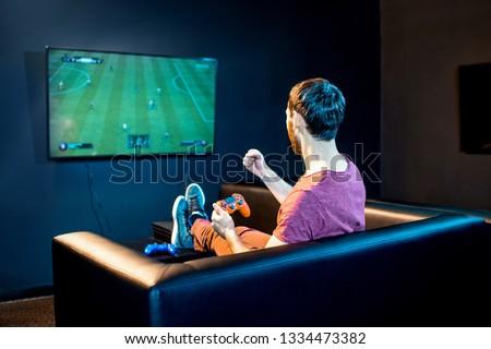 Joystick monitor jogo preto Foto stock © mayboro
