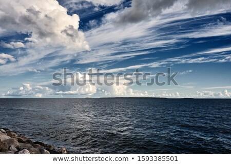 Panorama of sky over water Stock photo © elenaphoto