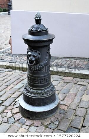 Eski demir top Riga Letonya duvar Stok fotoğraf © amok