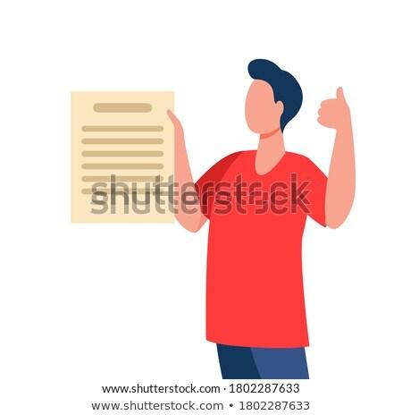 деловой человек большой палец руки вверх кавказский белый Сток-фото © jaycriss