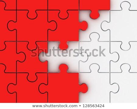 Talento rosso puzzle bianco arte istruzione Foto d'archivio © tashatuvango