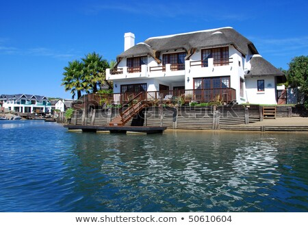 Residential Houses In St Francis Bay South Africa Stok fotoğraf © Tish1