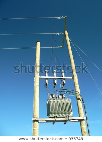 Free air substation for electicity transforming Stock photo © pixelman