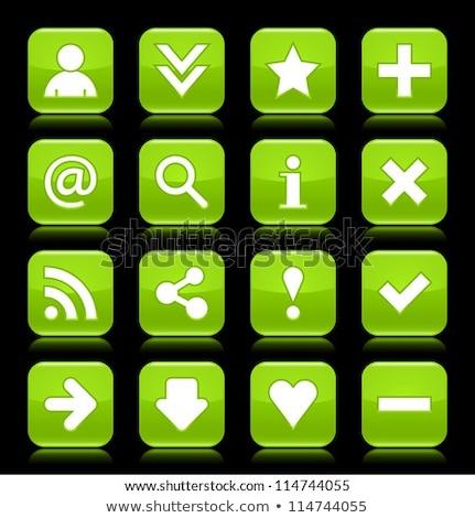 Warning Sign Green Vector Button Icon Design Set Stock photo © rizwanali3d
