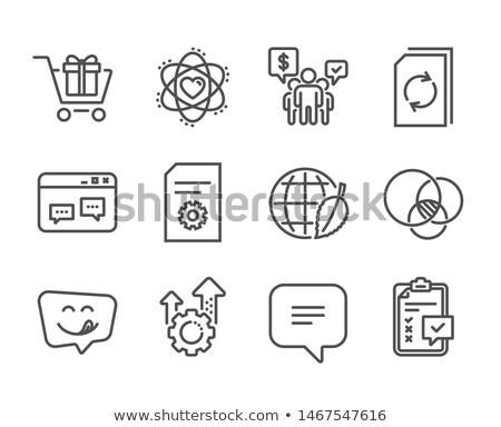 técnico · documentação · ícone · engrenagem · teia - foto stock © rastudio