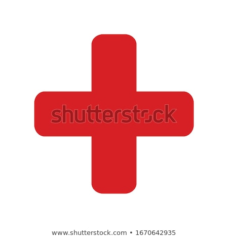 Plus Sign Red Vector Icon Design Stock photo © rizwanali3d