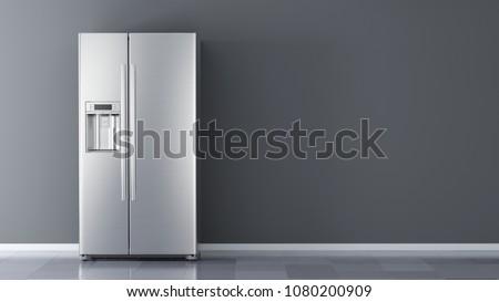 moderna · refrigerador · modelo · cocina · fresco · eléctrica - foto stock © fuzzbones0